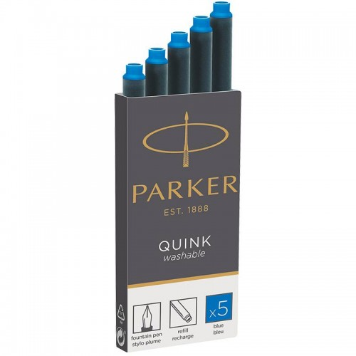 Синие неводостойкие картриджи Parker (Паркер) Quink Cartridges Washable Blue 5 шт в Новосибирске