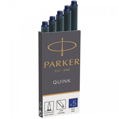 Синие картриджи Parker (Паркер) Quink Cartridges Blue 5шт в Новосибирске