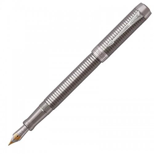 Перьевая ручка Parker (Паркер) Duofold Prestige Ruthenium Chiselled CT M в Новосибирске