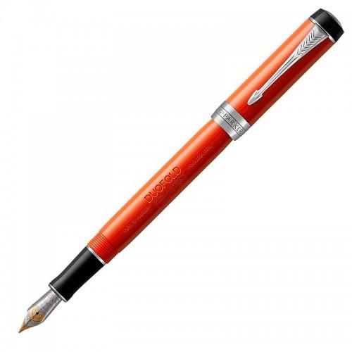 Перьевая ручка Parker (Паркер) Duofold International Classic Big Red Vintage CT F в Новосибирске
