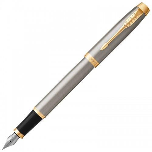 Перьевая ручка Parker (Паркер) IM Core Brushed Metal GT F в Новосибирске