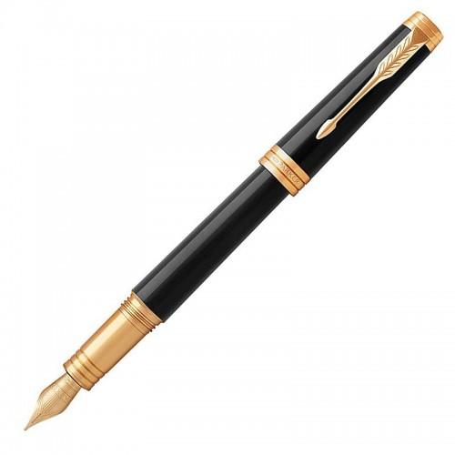 Перьевая ручка Parker (Паркер) Premier Black Lacquer GT F в Новосибирске