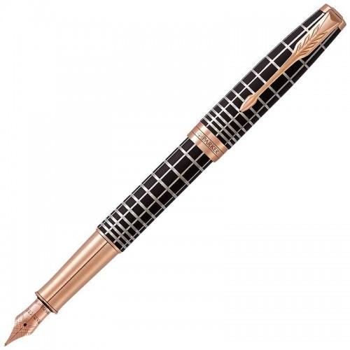Перьевая ручка Parker (Паркер) Sonnet Premium Brown Rubber PGT F 18k в Новосибирске