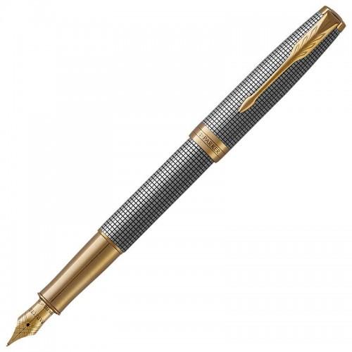 Перьевая ручка Parker (Паркер) Sonnet Luxury Cisele Silver GT F в Новосибирске