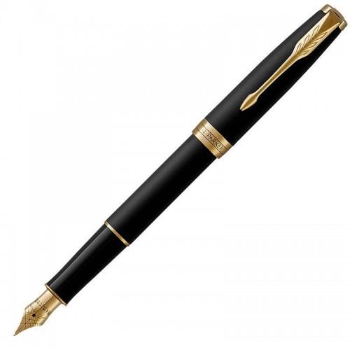 Перьевая ручка Parker (Паркер) Sonnet Core Matte Black Lacquer GT F в Новосибирске