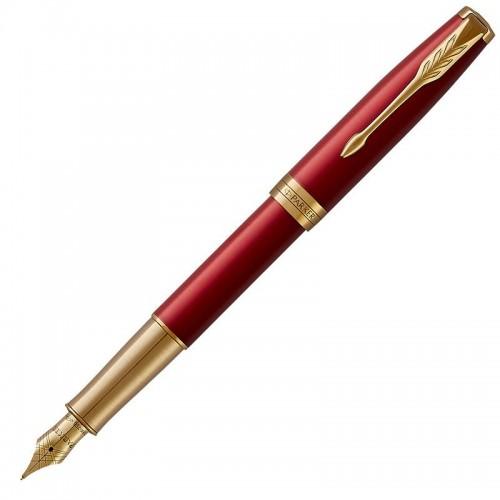 Перьевая ручка Parker (Паркер) Sonnet Core Red Lacquer GT F 18k в Новосибирске