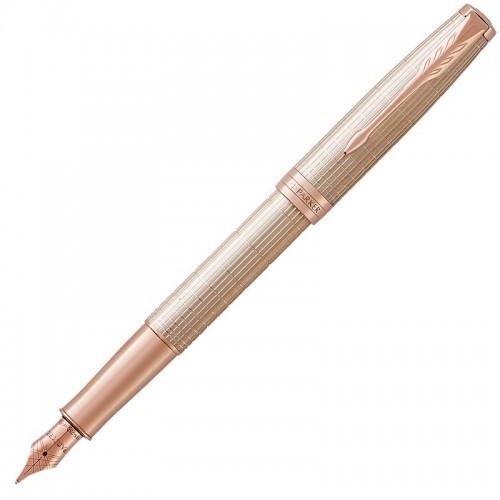 Перьевая ручка Parker (Паркер) Sonnet Luxury Cisele Silver PGT F в Новосибирске