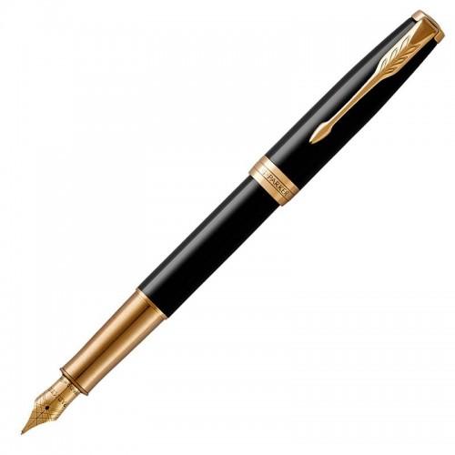 Перьевая ручка Parker (Паркер) Sonnet Core Black Lacquer GT F в Новосибирске