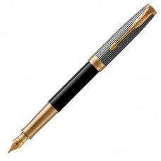 Перьевая ручка Parker (Паркер) Sonnet Premium Black Silver GT F