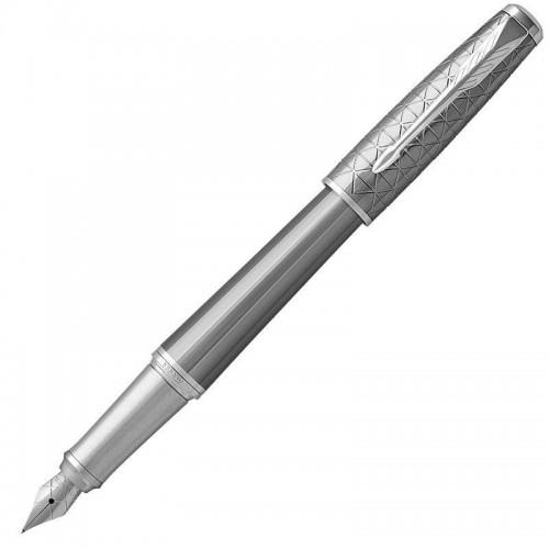 Перьевая ручка Parker (Паркер) Urban Premium Silvered Powder CT F в Новосибирске