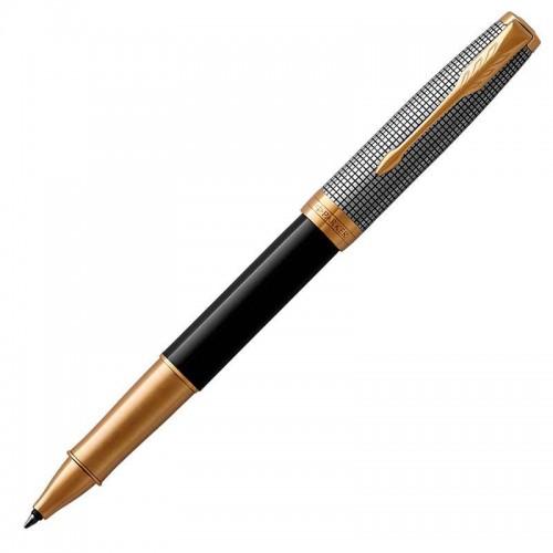 Ручка-роллер Parker (Паркер) Sonnet Premium Black Silver GT в Новосибирске