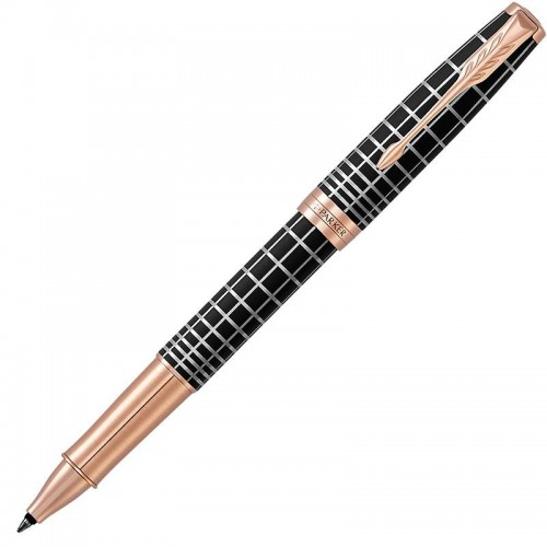 Ручка-роллер Parker (Паркер) Sonnet Premium Brown Rubber PGT в Новосибирске