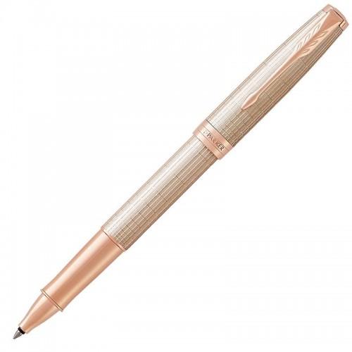 Ручка-роллер Parker (Паркер) Sonnet Luxury Cisele Silver PGT в Новосибирске