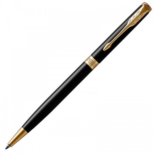 Шариковая ручка Parker (Паркер) Sonnet Core Slim Black Lacquer GT в Новосибирске