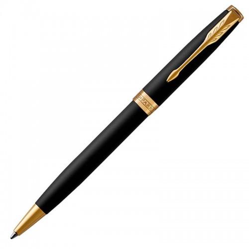 Шариковая ручка Parker (Паркер) Sonnet Core Matte Black Lacquer GT в Новосибирске