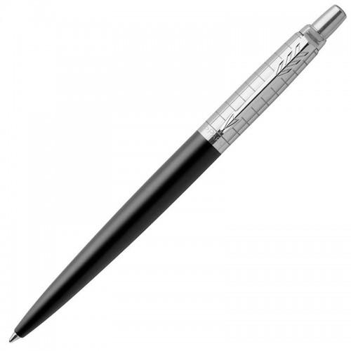 Шариковая ручка Parker (Паркер) Jotter Premium Bond Street Black Grid CT в Новосибирске