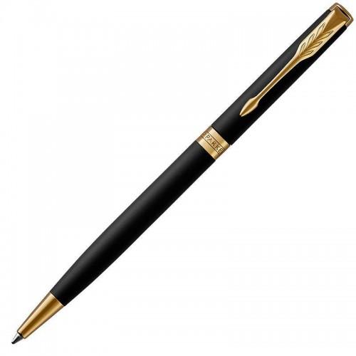 Шариковая ручка Parker (Паркер) Sonnet Core Slim Matte Black Lacquer GT в Новосибирске