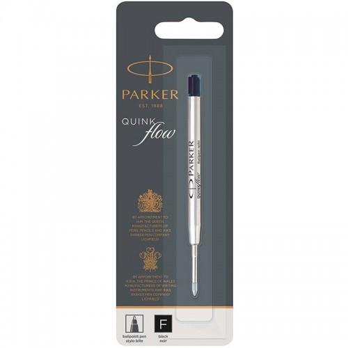 Чёрный шариковый стержень Parker Ball Pen Refill QuinkFlow Premium F Black в Новосибирске